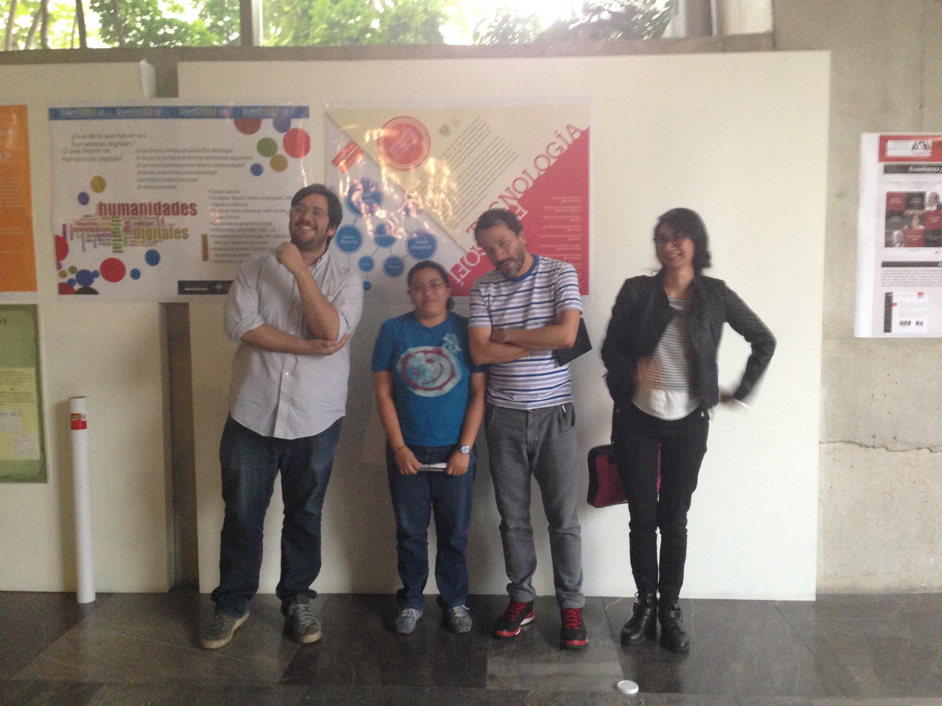 Miembros y póster del #SeminarioTF